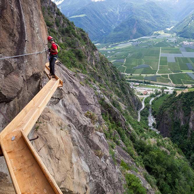 Klettersteig Hoachwool Naturns