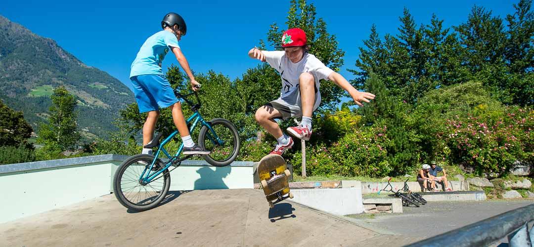 Naturns Ferienwohnungen Nikodemus Skaterplatz